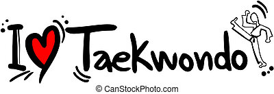 Taekwondo love - creative design fo taekwondo love