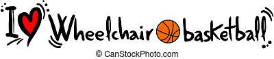 Wheelchari basketball love