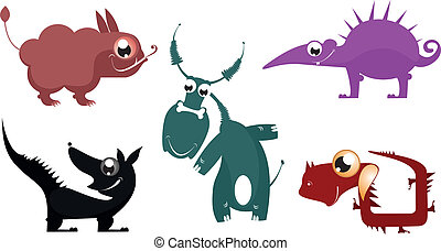 Fantastic cartoon animal vector collection for design
