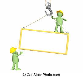 3d builders, lowering a frame on a hook - Builders -...