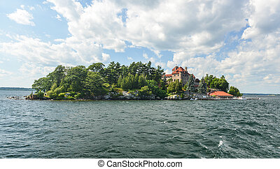 SInger Castle, Dark Island, New York - Singer Castle located...