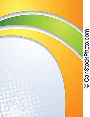 Abstract bright corporate wavy background. Vector design