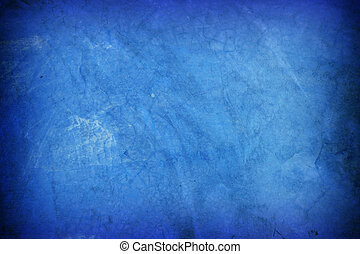 Old blue cement wall background