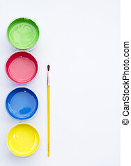 tempera - colorful tempera in white background