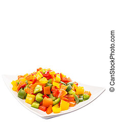 Mix Colorful Chopped Capsicums - Mix colorful chopped...