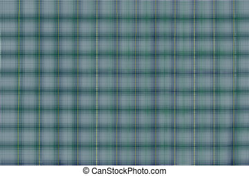 Blue Green Plaid with Yellow Stripe