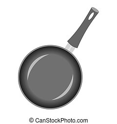 Fryer pan - Template pan on a white background