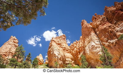 Bryce Canyon National Park in Utah, - Panorama of Bryce...