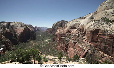 Beautiful view of Zion National Pa - Canyon viewed from...