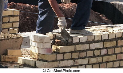 Work bricklayer - Construction townhouse, work bricklayer,...
