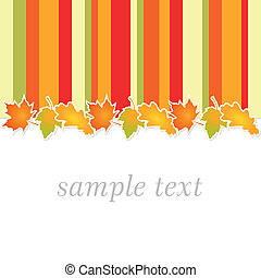 autumn full color background with stripes in autumnal colors...
