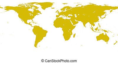 World gold map