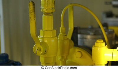 Close the valve, close up of hands