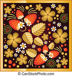 Pattern in style of Hohloma - Beautiful pattern with Hohloma...