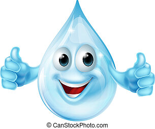 Water drop mascot - An illustration of a cartoon water drop...
