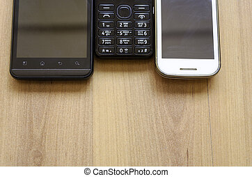 Mobile Telephones - smartphone and old mobile telephone