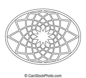 Buonarroti star - Geometric design of Capitolium floor decor