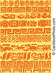 Mexican Texture Carpet - This mexican pattern was painted...