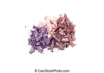 Eye shadows - Bright eye shadows on white