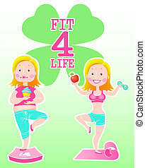 fit 4 life - vector