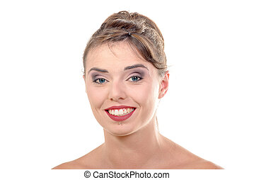 Pretty young woman smiling