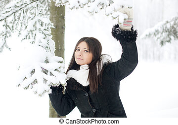 Beauty winter woman