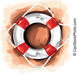Lifesaver - This Lifesaver was digital created and isolated...