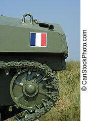 SAMSUNG CSC - Detail of Second World War Sherman tank a...