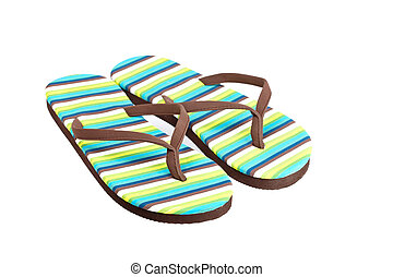 Flipflops - A pair of flipflops or beach sandals isolated on...