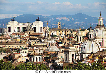 Beautiful panorama of Rome, Italy - Beautiful view of Rome...