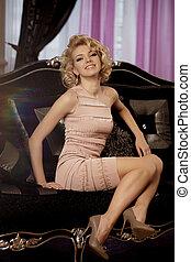 Luxury rich woman like Marilyn Monroe - Beauty rich luxury...