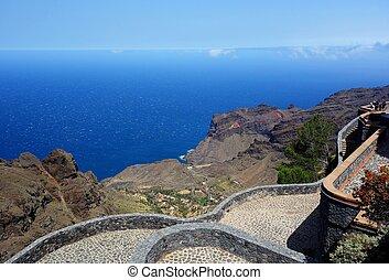 Mirador del Santo in Arure La Gomera island