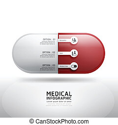 capsule drugs infographic pharmacy medicine medicalVector...