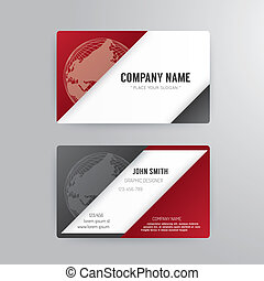 Business card template modern abstract concept design