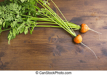 Fresh Round Carrots - Round romeo carrots just harvested on...