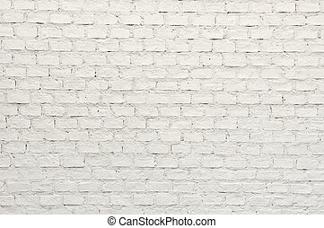 White brick wall stock