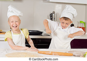 Very Happy Young Chefs Preparing Food to Eat
