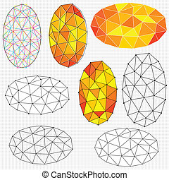 elliptical polygon graphics - A set of different versions...