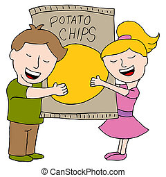 Kids Love Potato Chips