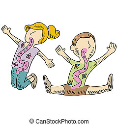 Healthy Digestion Kids - An image of healthy digestion kids.
