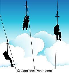 Zipline Group People - An image of a group of people on a...