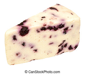 Blueberry White Stilton Cheese - Wedge of blueberry white...