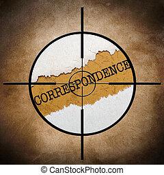 Correspondence target