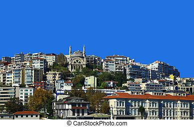 Beyoglu, Istanbul. - View of the Beyoglu, Istanbul. Turkey....