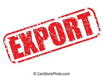 Export red stamp text
