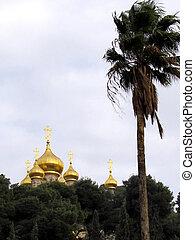 Jerusalem Church St. Maria Magdalena Domes 2012