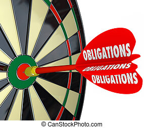 Obligations Dart Board Success in Meeting Responsibilities