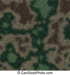 Colored military knit seamless generated texture or...