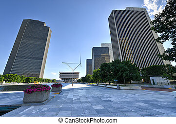 Empire State Plaza in Albany, New York - Empire State Plaza,...
