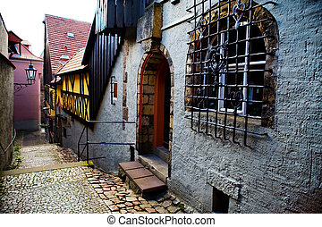 Street in Meissen - The old street in Meissen near Dresden.